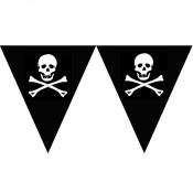 Piraten-Wimpelkette mit Totenköpfen