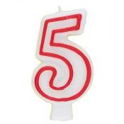 Zahl 5 als Geburtstagskerze