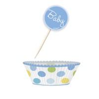 Muffinförmchen und Picker Baby Blau