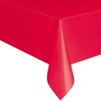 Rote Tischdecke